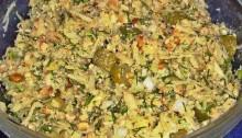 салат из зеленой редьки с яблоком