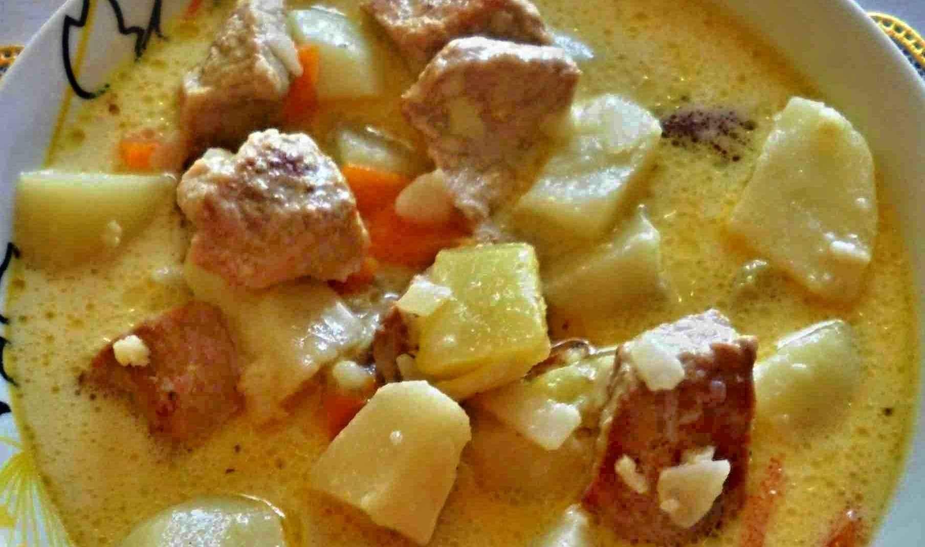 Картофель с мясом на сковороде пошаговый рецепт