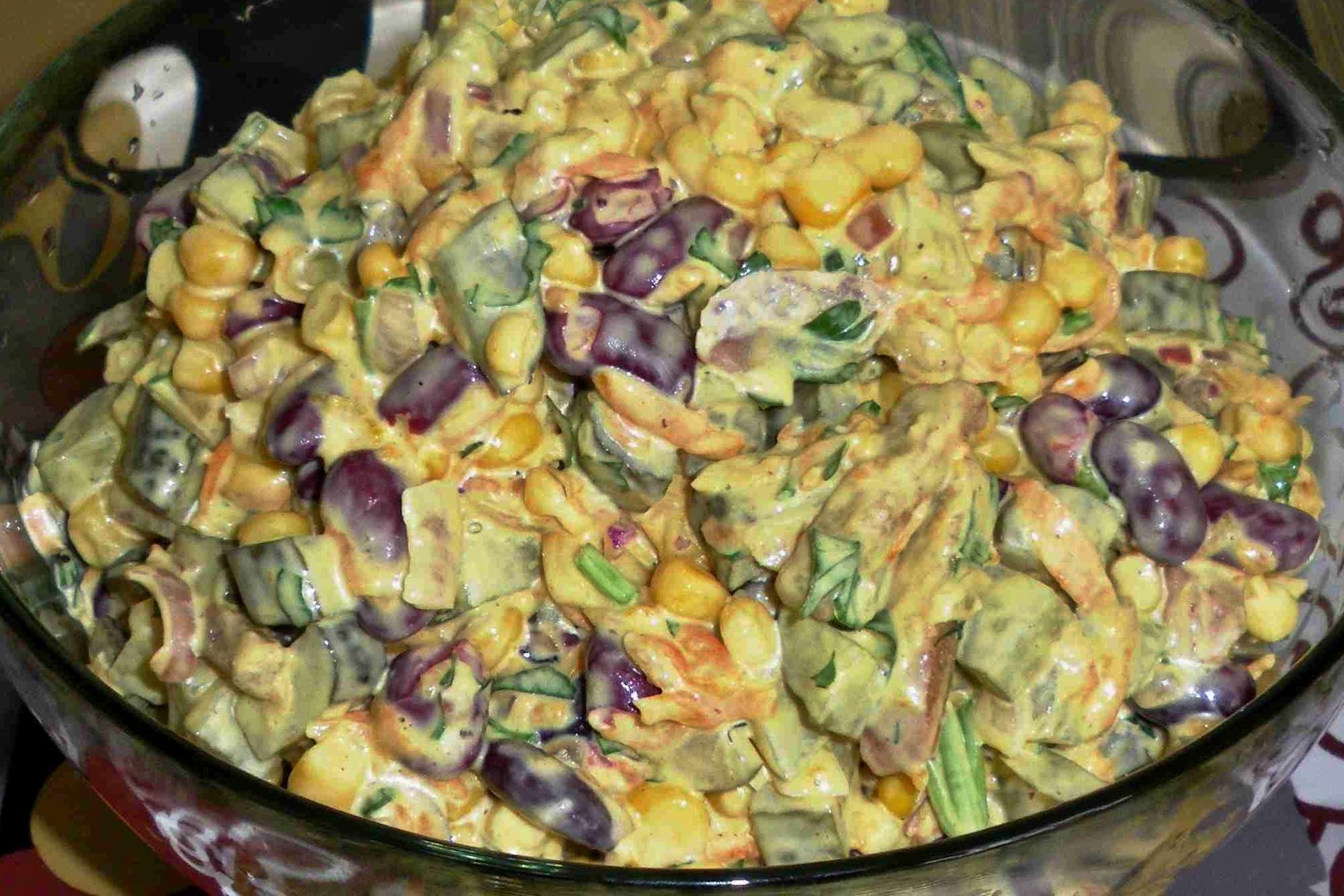 Салат с фасолью и куриной грудкой - пошаговый рецепт с фото 78