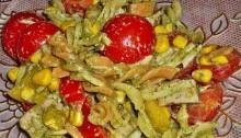 салат из макарон с ветчиной и сыром