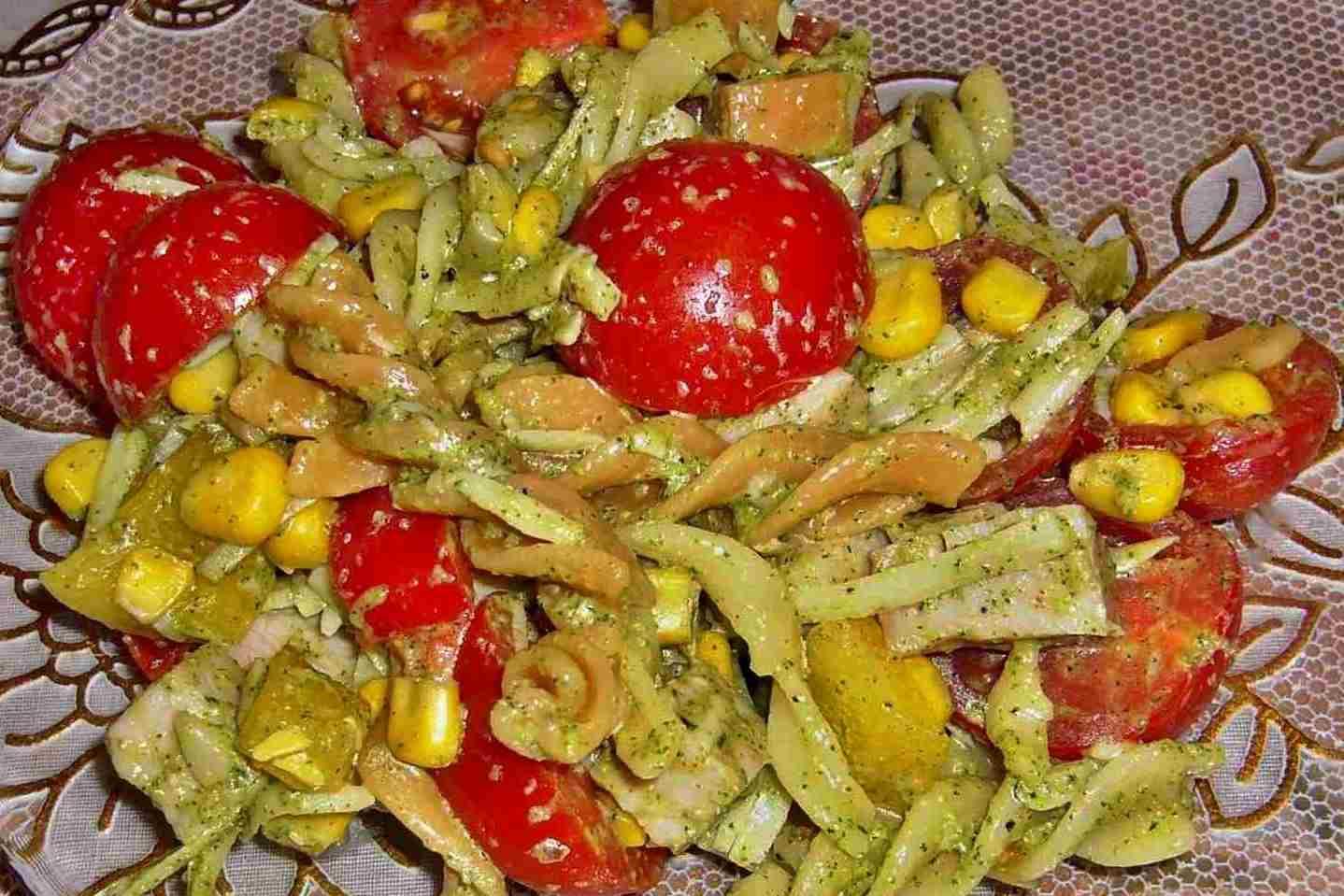 Салаты с и макаронами пошагово