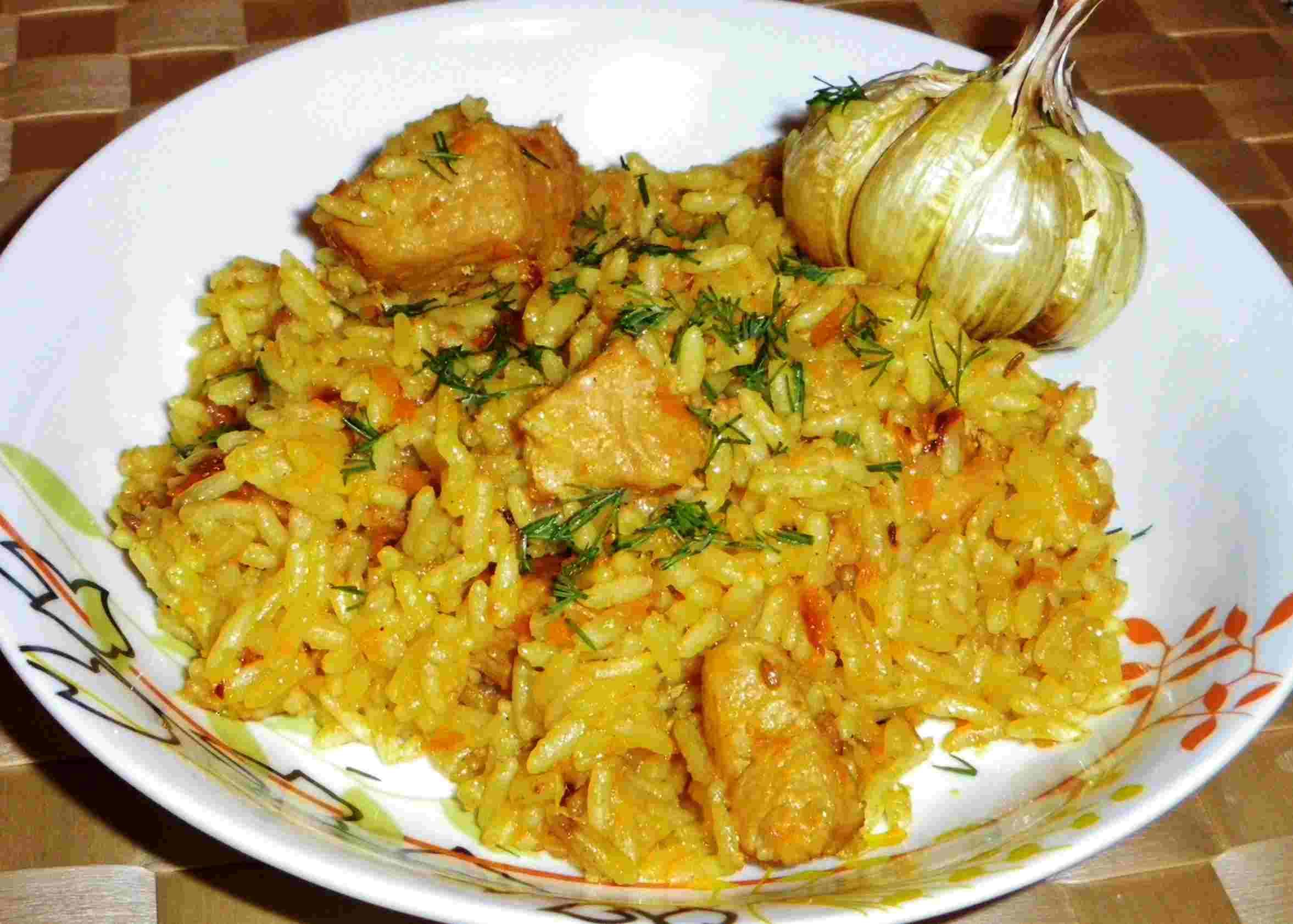 Рецепт вкусного плова из свинины пошагово