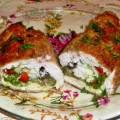 куриные грудки фаршированные грибами и сыром