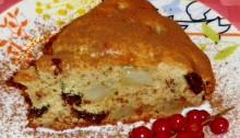 Пирог с грушами с шоколадом и орехами