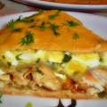 Пирог из курицы с сыром и яйцами