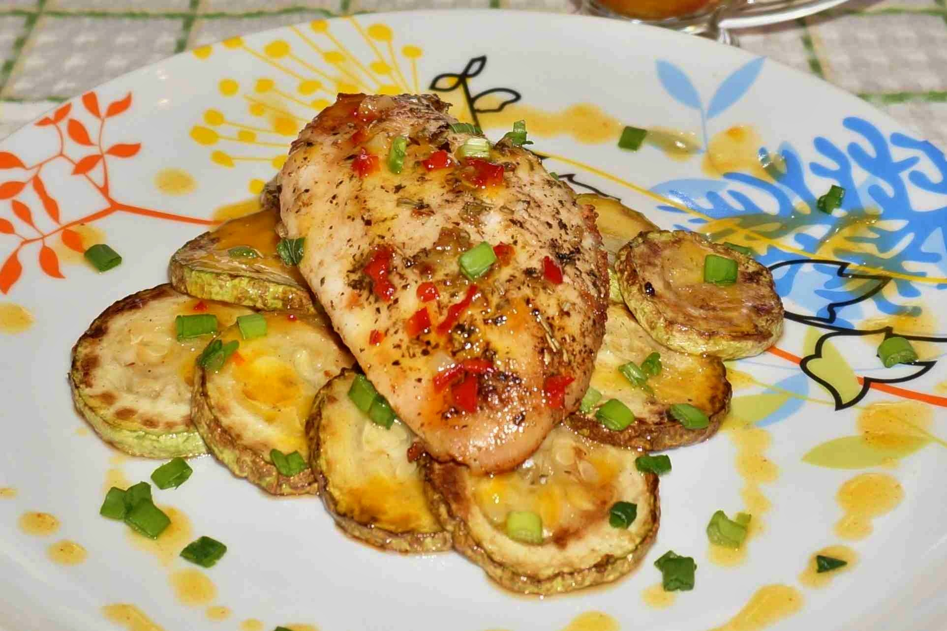 Курица с кабачками рецепты