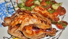 Цыпленок фаршированный в духовке