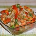 Салат из запеченных баклажанов и помидоров