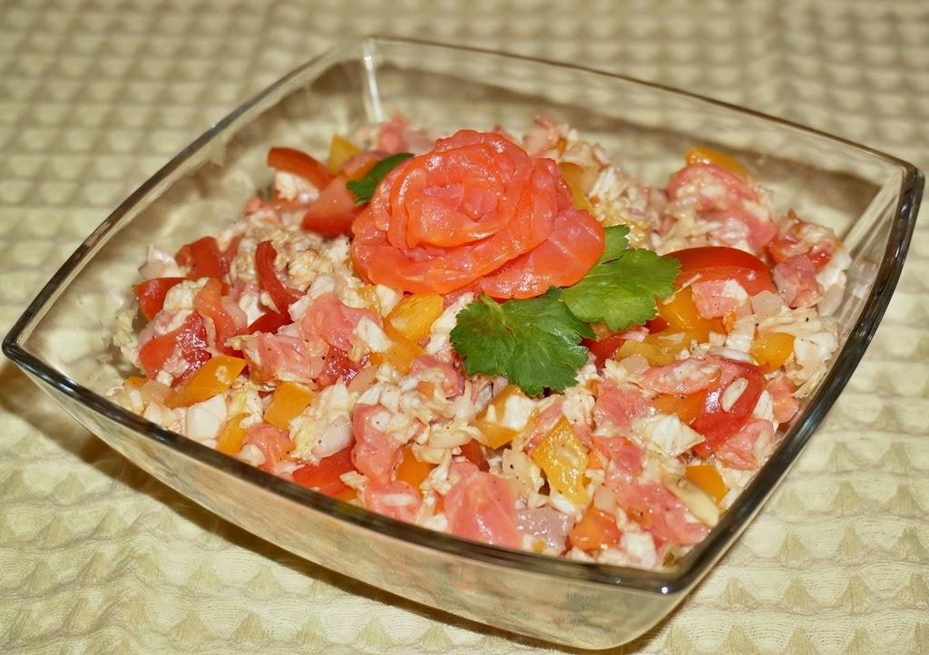 Салат с форелью рецепт фото