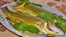 Рыба с соусом Песто