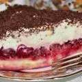 торт с вишней наслаждение