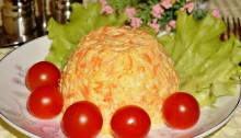 Салат из репы и моркови с чесноком