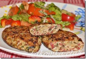 куриные котлеты с грибами и говядиной (1)
