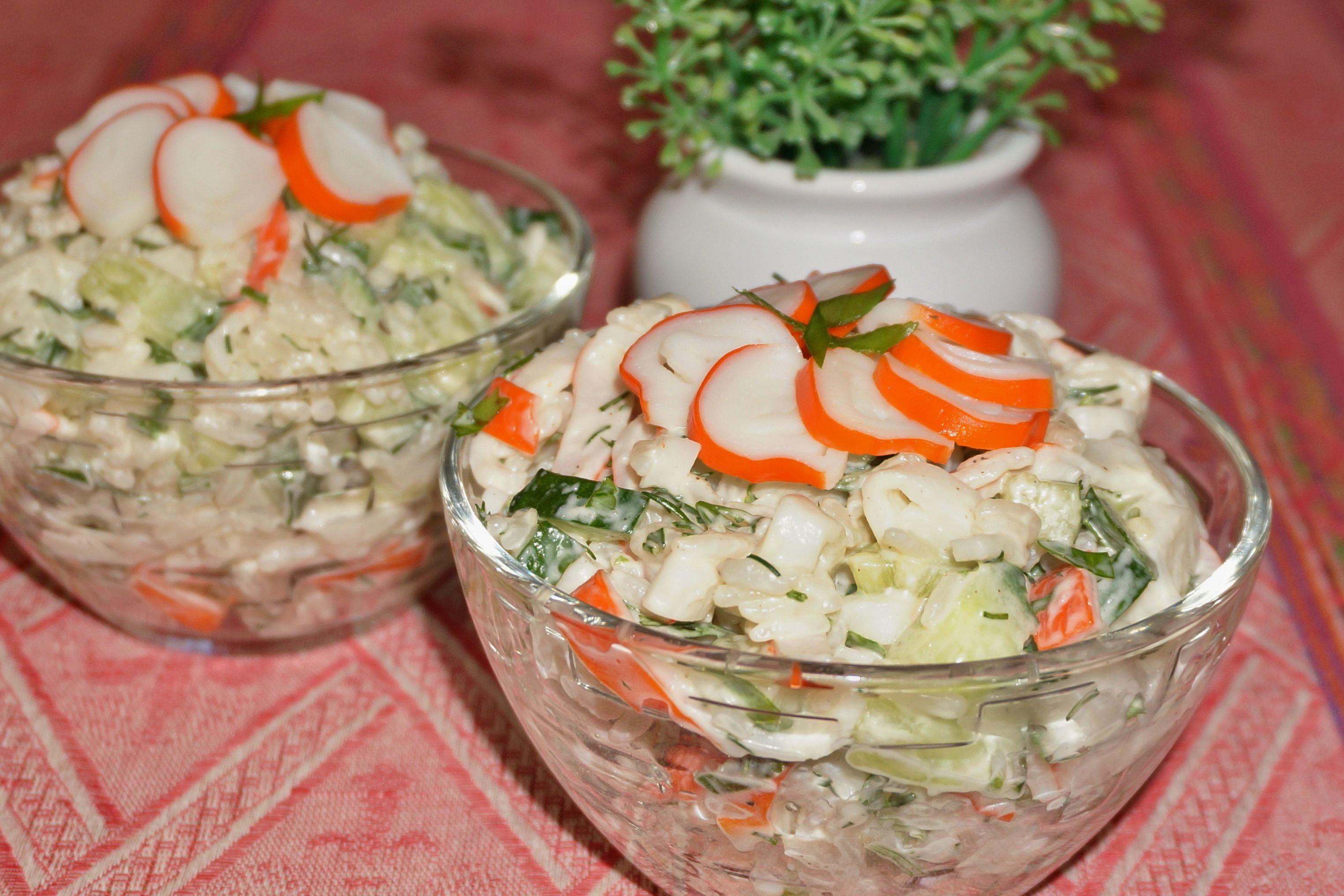 Салаты из крабовых палочек рецепты пошагово