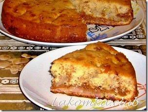 банановый пирог со сгущенкой