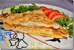 Ёка - лаваш с яйцом и сыром
