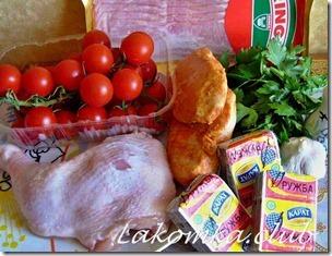 Сыр с плавленым сыром и копченой курицей (2)