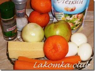 Салат из мандаринов с сыром и яблоком (3) (1)