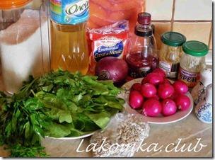 салат из семги с редисом и шпинатом (3)
