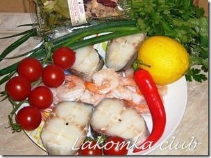 Суп Том Ям с креветками и рыбой 3