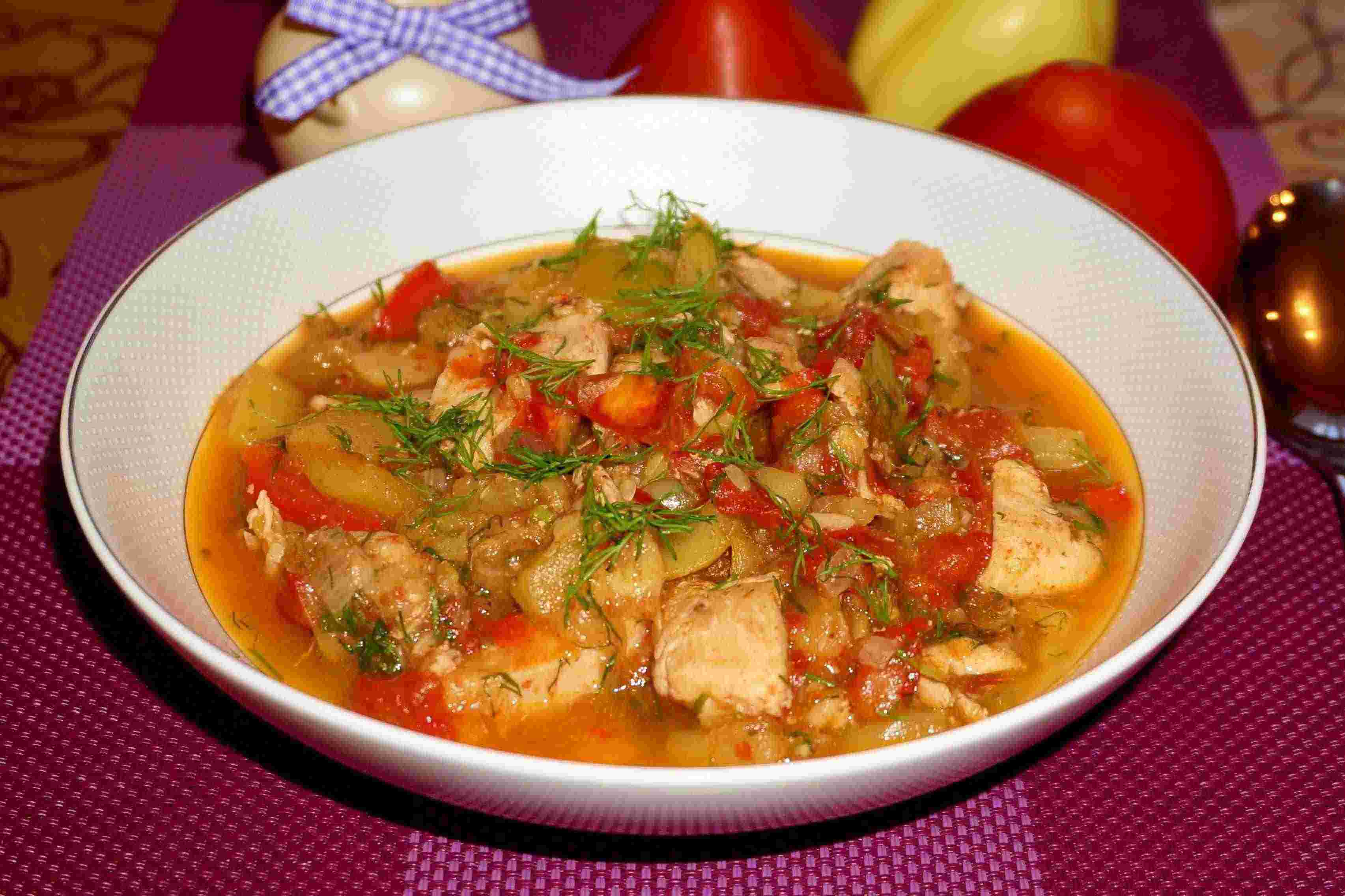 Рагу из кабачков для похудения рецепты