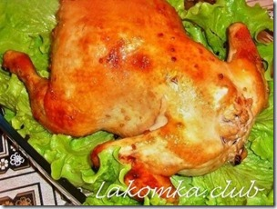 Курица фаршированная гречкой и яблоками