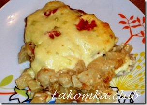 свинина по царски с картофелем и помидорами