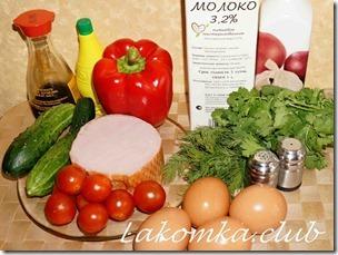 омлет с салатом на завтрак (2)