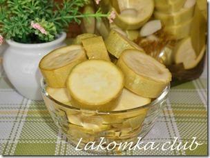 кабачки маринованные с чесноком