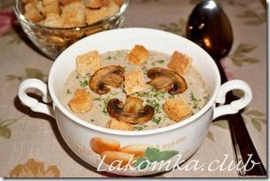 суп-пюре из шампиньонов со сливками (1)