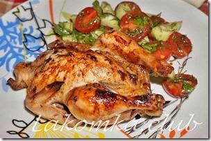 цыпленок фаршированный в духовке сыром с плесенью