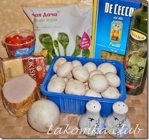 Макаронный салат с ветчиной и грибами (3)