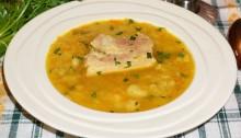 Суп из копченых свиных ребрышек рецепт пошагово