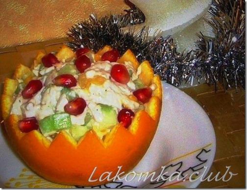 салат в апельсине с курицей и огурцом (2) (1)