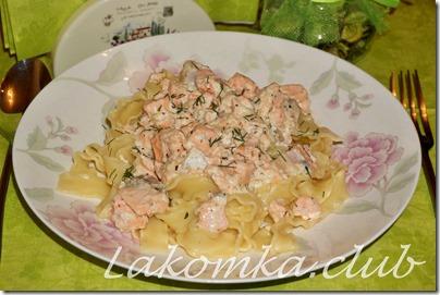 паста с лососем в сливочном соусе (2)
