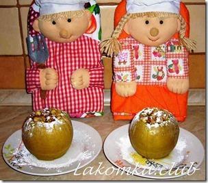 яблоки запеченные с медом и орехами (2)