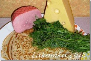 блины фаршированные ветчиной и сыром (3)