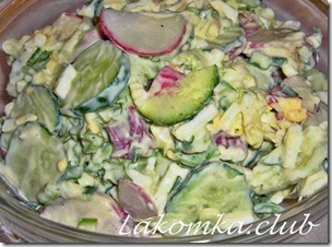 салат из редиса с огурцами и яйцами (4)