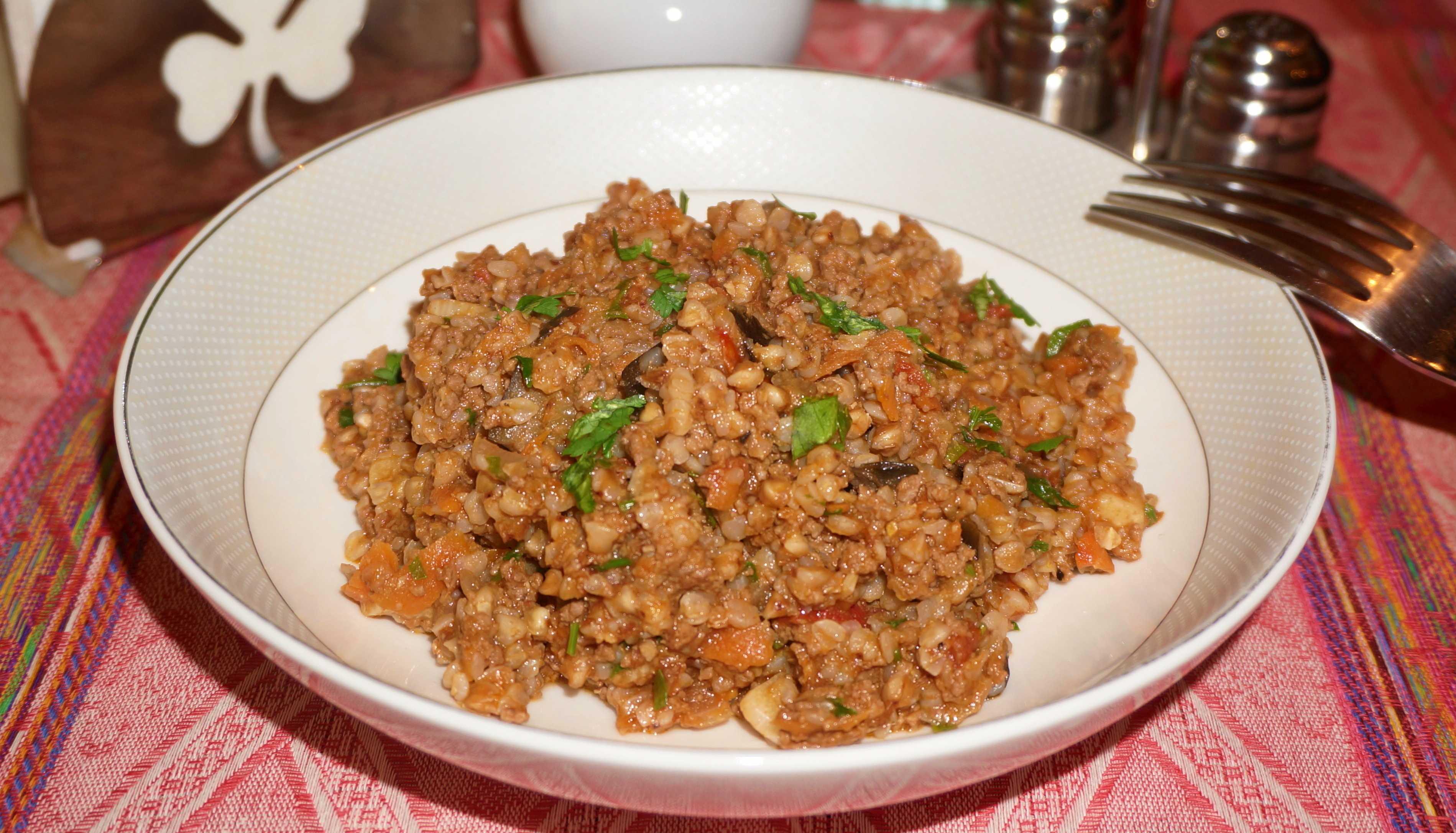 Как приготовить мясо с гречкой пошаговый рецепт