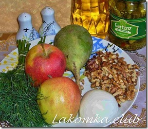 Салат из зеленой редьки с яблоком (2)