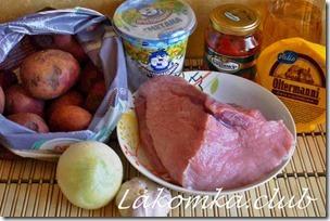 Запеканка из свинины с картофелем и помидорами (3)