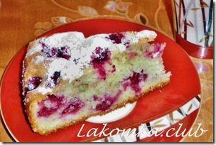 наливной пирог с вишней Вишневый сад