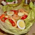 салат из кальмаров с креветками и помидорами Штиль