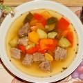 суп из говядины с овощами