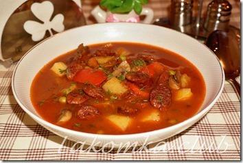 томатный суп с охотничьими колбасками фото рецепт