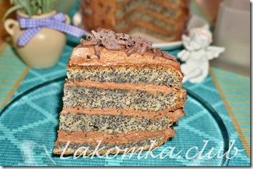 шоколадно-маковый торт