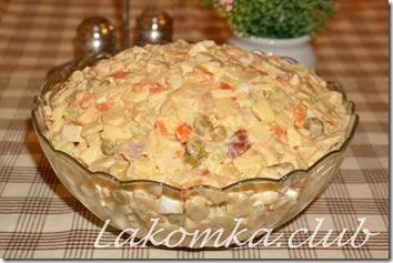 салат из копченой рыбы с картофелем (1)
