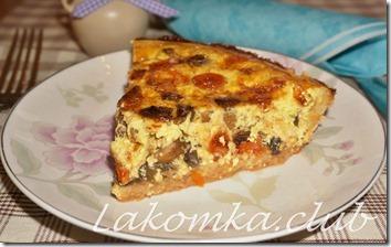 киш с грибами, помидорами и сыром (2)