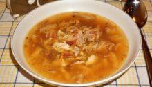 Куриный суп с лапшой без картошки