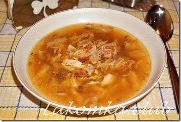 суп из курицы с лапшой